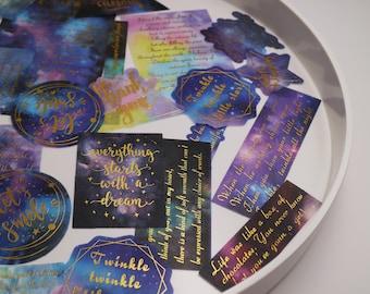 60pcs/pack washi Stickers Pack / starry night  universal galaxy magic themed Washi Stickers M02 Tzb-L1