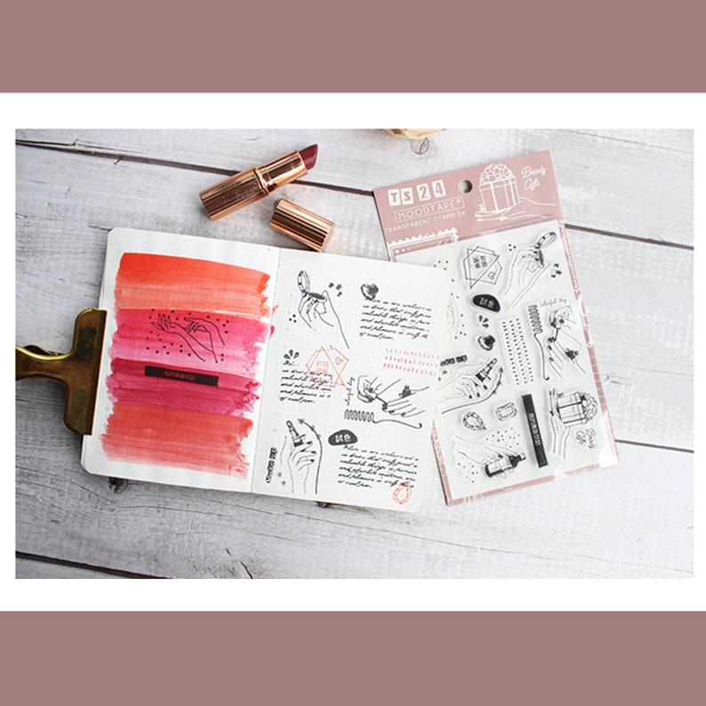 clear Stamp Set  Clear Stamps  make up hand spay powder Transparent Stamp S24 sale09