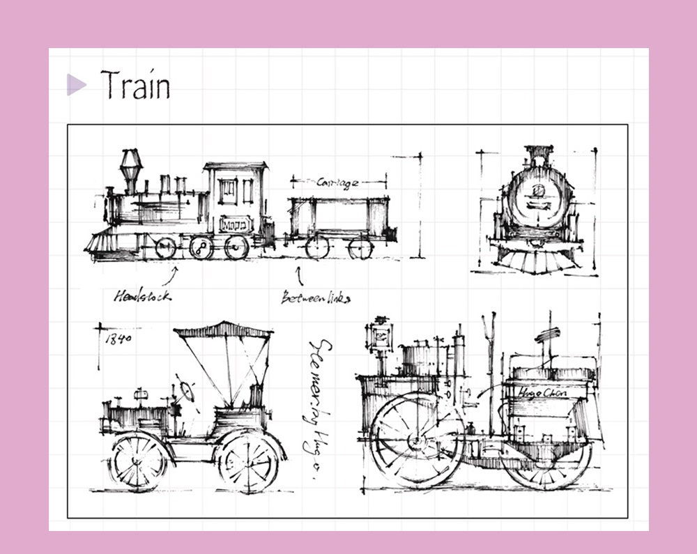 Trains Clear Stamp Set Stamps Planner Journal Etsy Steam Car Engine Diagram Vehicle Coal Drive Punk Carriage S7