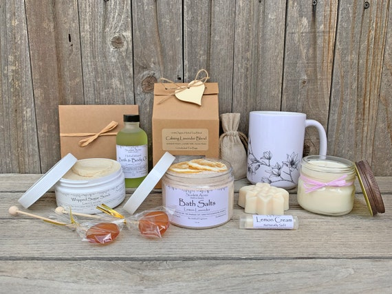 Tea & Mug Gift Set, Tea And Bath Gift, Birthday Gifts For Her, Gift Baskets For Women, Thank You Gift Box, Cancer Care Package