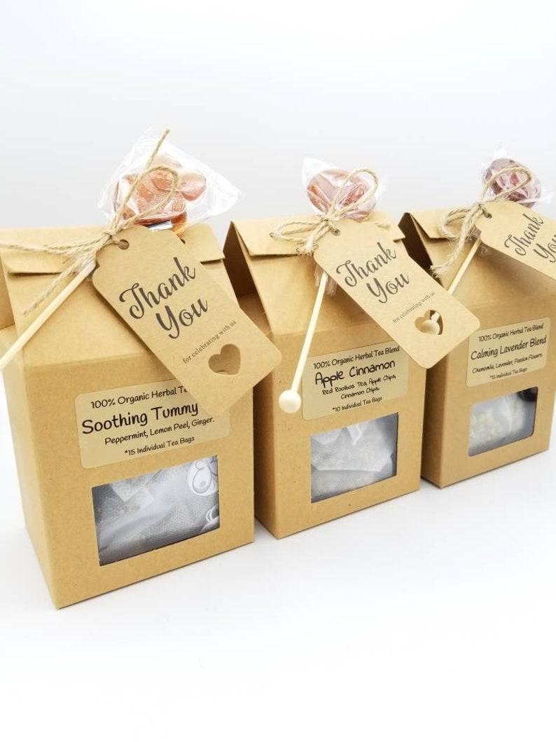 Rustic Tea Bags Honey Lollipop Favors Summer Or Spring Etsy