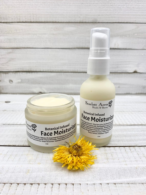 Herbal Infused Moisturizer, Anti-Aging Face Lotion, Vitamin C Moisturizer, Dry Skin Face Cream, Natural Face Lotion, Rosehip Oil Moisturizer