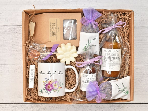 Mothers Day Tea Gift Box, Self Care Gift Box, Tea & Mug Gift Set, Mom Birthday Gift Box, Gift Baskets For Women, Women's Care Package
