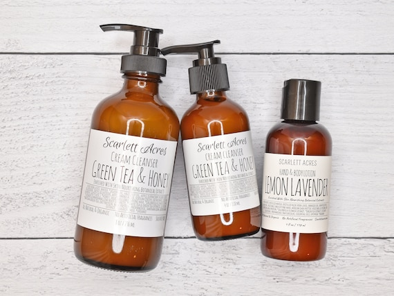 Green Tea Honey Cream Cleanser, Green Tea Face Wash, Dry Skin Cleanser, Organic Face Wash, Sensitive Skin Cleanser, Moisturizing Cleanser