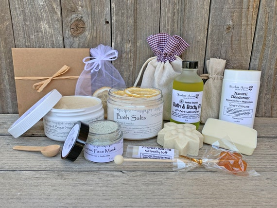 Thank You Gift Box, Thank You Gift Basket, Care Package For Her, Organic Spa Gift Set, Large Bath Gift Set, Gift Baskets For Women
