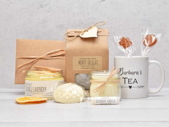 Women's Care Package, Mom Birthday Gift Box, Gift Baskets For Women, Tea And Spa Gift Set, Comfort Care Package, Sister Birthday Gift Basket