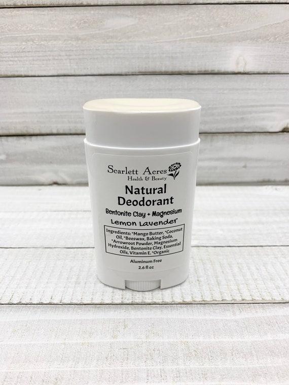 Magnesium Deodorant, All Natural Deodorant, Aluminum Free Deodorant, Sensitive Skin Deodorant, Fragrance Free Deodorant