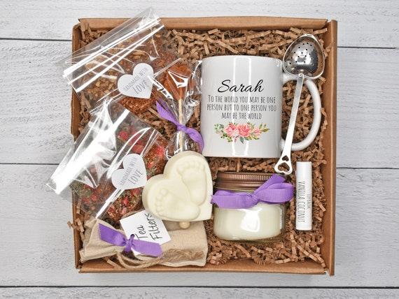 Surrogate Mother Gift, Surrogacy Gift Basket, Morning Sick Tea Gift, IVF Care Package, Surrogate Gift Box, IVF Gift Box, Tea & Mug Gift Set