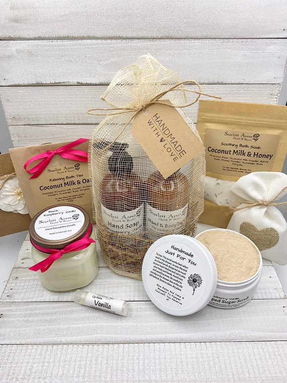 Large Spa Gift Box, Spa Gift For Her, Gift Baskets For Women, Thank You Gift Box, Thinking Of You Gift, Organic Spa Gift Set