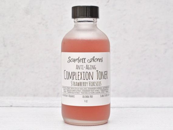 Strawberry Hibiscus Toner, Anti-Aging Toner, Organic Facial Toner, Natural Face Toner, Alcohol Free Toner, Hydrating Toner