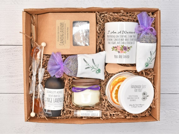 Cancer Care Package, Breast Cancer Gift Box, Chemo Care Package, Cancer Gifts For Women, Healing Tea Gift Set, Cancer Gift Basket