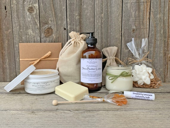 Birthday Gifts For Her, Thinking Of You Gift, Mom Birthday Gift Box, Nurse Care Package, Organic Spa Gift Set, Gift Baskets For Women