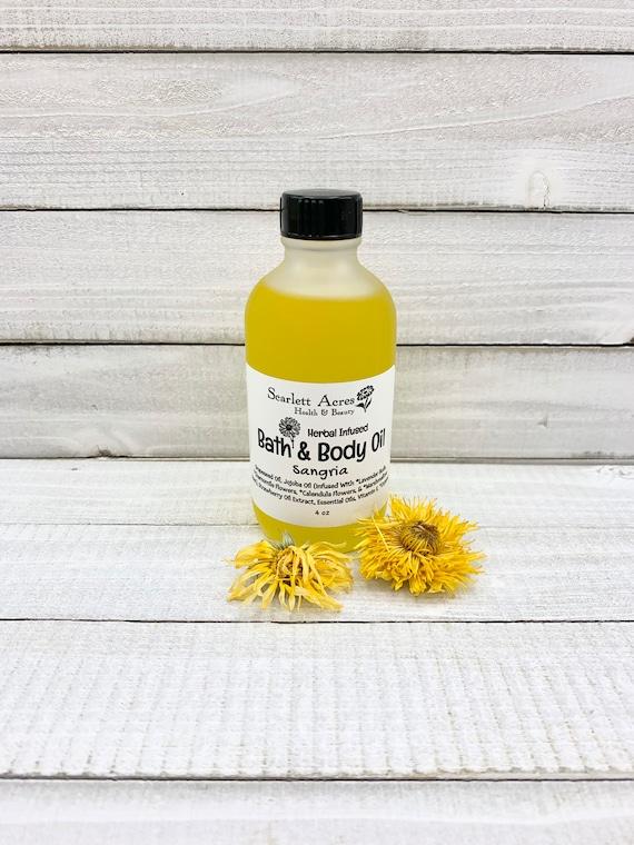 Herbal Infused Body Oil, Botanical Body Oil, Organic Bath Oil, Organic Body Oil, Organic Massage Oil, Lavender Body Oil, Calendula Bath Oil