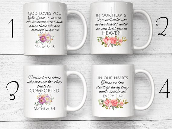Sympathy Mug, Custom Bible Verse Mug, Grieving Friend Gift, Loss Of Loved One, Death Of Mom Gift, Loss Of Child Gift, Mourning Gift