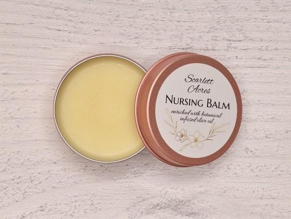 Botanical Nursing Balm, Organic Nipple Balm, Natural Nipple Cream, Breastfeeding Cream, Organic Nipple Salve, Healing Nipple Cream