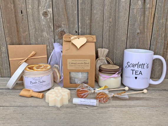 Thinking Of You Gift Box, Cancer Care Package, Chemo Care Package, Get Well Soon Gift Box, Relaxation Gift Box, Organic Tea Gift Set
