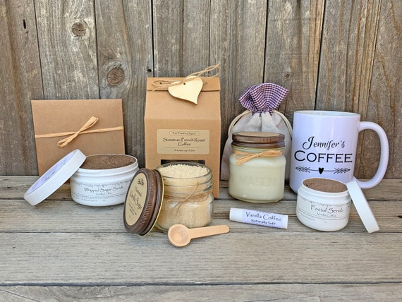 Coffee Gift Basket, Coffee Spa Gift Set, Teacher Appreciation Gift, Thank You Gift Box, Coffee & Mug Gift Box, Gift Baskets For Women