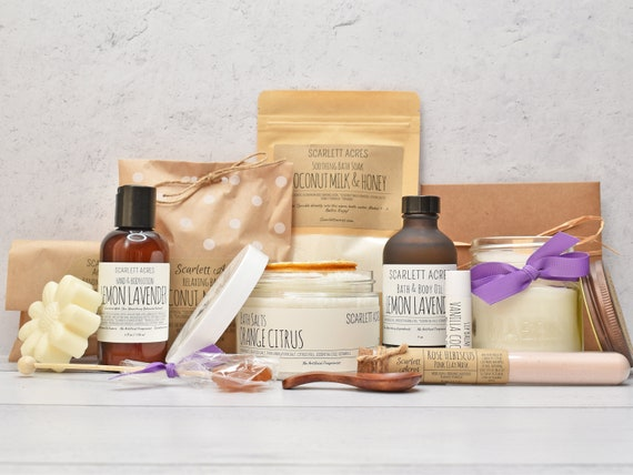Birthday Gifts For Her, Mothers Day Spa Gift Box, Large Spa Gift Box, Organic Spa Gift Set, Gift Baskets For Women, Care Package For Her
