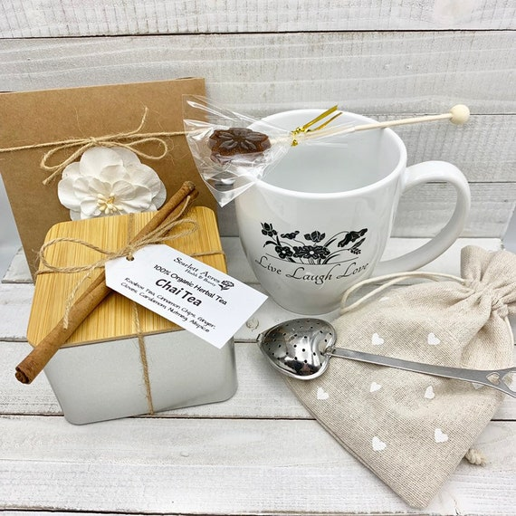 Tea And Mug Gift Set, Christmas Gift box, Tea Lover Gift, Thank You Gift Box, Tea Gift Basket, Birthday Gifts For Her, Tea Gift Box