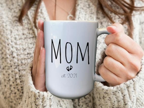 First Time Mommy Mug, Mommy To Be Mug, Personalized Pregnancy Mugs, Custom Pregnancy Mug, Baby Elephant Mug, Expecting Mom Gift