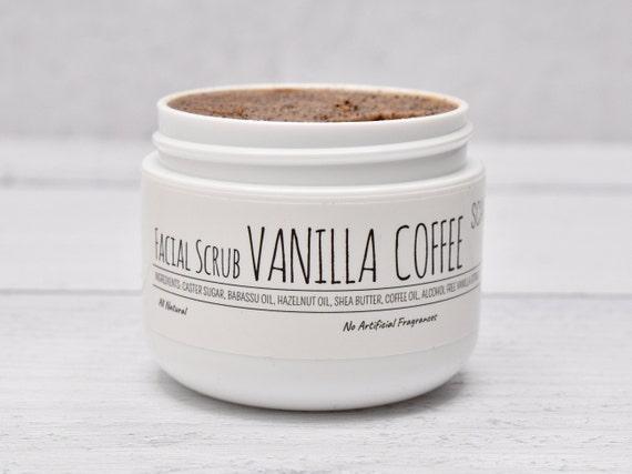 Vanilla Coffee Face Scrub, Coffee Sugar Scrub, Caster Sugar Scrub, Organic Face Scrub, Facial Scrub, Coffee Exfoliator, Organic Sugar Scrub