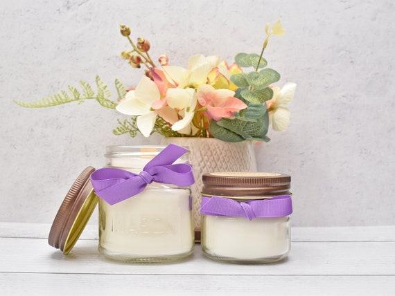 Soy Candles, Lemon Lavender Candle, Lemon Vanilla Candle, White Tea & Ginger Candle, French Vanilla Candle, Mason jar candles