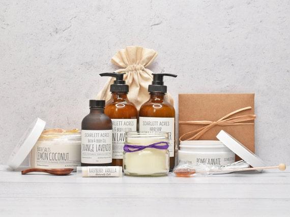 Surrogacy Gift Box, Surrogate Mother Gift, Organic Spa Gift Set, Spa Gift Basket, Large Bath Gift Set, Pamper Gift Basket, Lavender Gift Set
