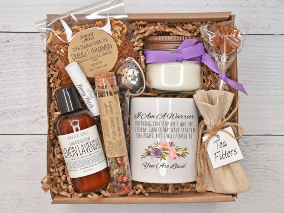 Cancer Gift Basket / Chemo Care Package / Breast Cancer Gift / Cancer Gift Box / Cancer Care Package / Nausea Relief Tea Gift Set