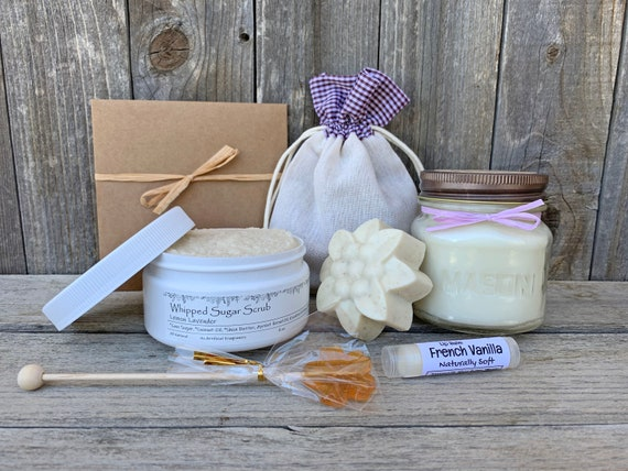 Best Friend Gift Box, Candle & Soap Gift Set, Nurse Care Package, Thank You Gift Box, Spa Gift Basket, Gift Baskets For Women