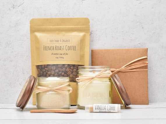 Coffee Care Package, Coffee Gift Basket, Coffee & Mug Gift, Coffee And Candle, Birthday Gift Basket, Thank You Gift Box, Coffee Lover Gift