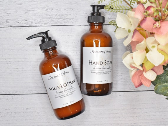 Hand Soap & Lotion Set, Lotion And Hand Soap Set, Natural Hand Soap, Natural Body Lotion, Organic Hand Soap, Dry Skin Lotion
