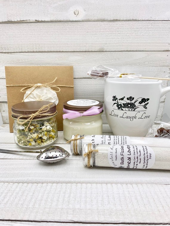 Thinking Of You Gift, Cancer Care Package, Organic Tea Gift Set, Stress Relief Gift Box, Get Well Soon Gift Basket, Relaxation Gift Box
