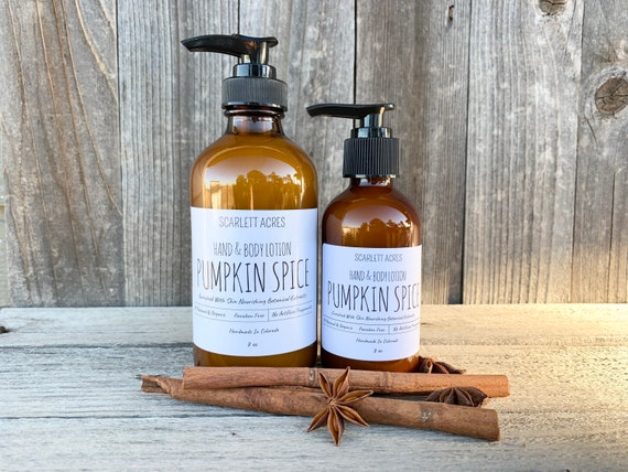 Pumpkin Spice Lotion, Holiday Scented Lotion, Organic Lotion, Sensitive Skin Lotion, Natural Lotion, Natural Fragrance, Shea Butter Lotion