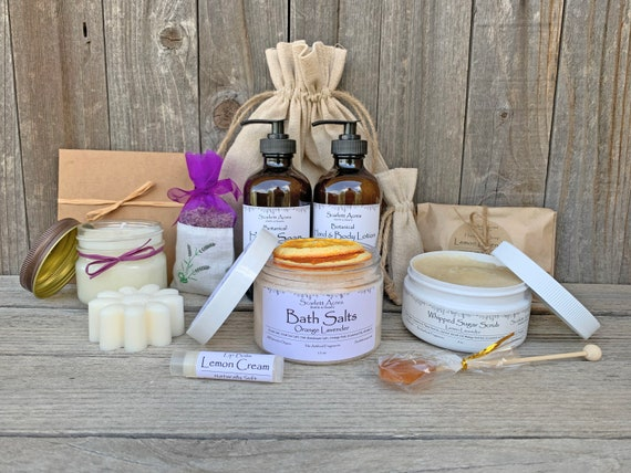 Lavender Gift Set, Pamper Gift Basket, Birthday Gifts For Her, Best Friend Gift Box, Organic Spa Gift Set, Gift Baskets For Women