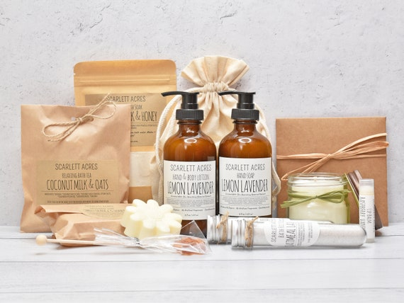 Large Spa Gift Box, Self Care Gift Box, Lotion & Soap Gift Set, Gift Baskets For Women, Thank You Gift Box, Care Package For Her
