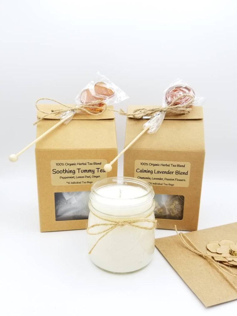 Tea Gifts Birthday Gift Basket And Candle Set Box