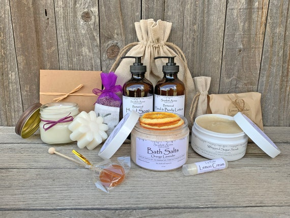 Gift Baskets For Women, Lavender Gift Basket, Thank You Gift Box, Birthday Gifts For Her, Organic Spa Gift Set, Lotion And Hand Soap