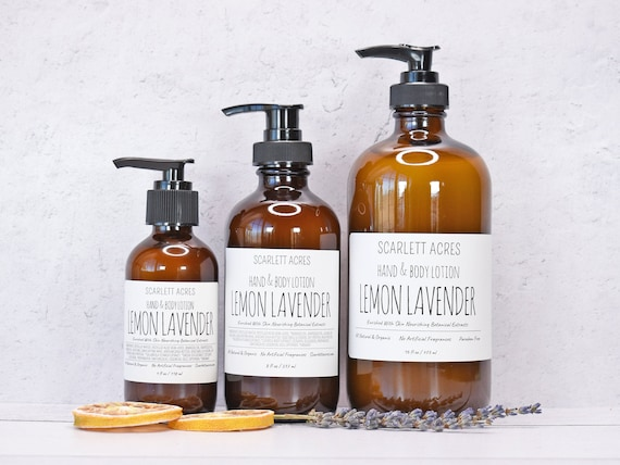 Lemon Lavender Lotion, Hand and Body Lotion, Moisturizing Lotion, Dry Skin Lotion, Unscented Lotion, Shea Butter Lotion, Organic Lotion