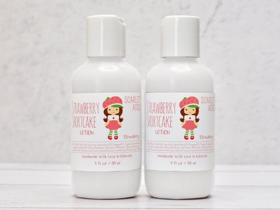 Strawberry Kids Lotion, Coconut Milk Lotion, Little Girls Lotion, Organic Baby Lotion, Birthday Party Favors, Fruit Scented Lotion