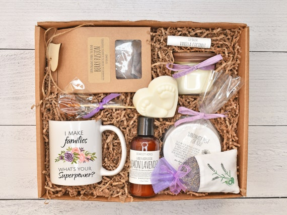 Surrogate Care Package, Surrogacy Gift Box, Surrogate Mother Gift, Surrogate Basket, IVF Care Package, Large Bath Gift Set, Pamper Gift Box