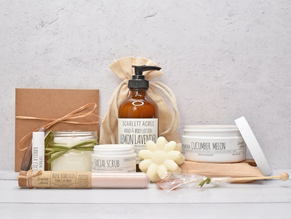 Skin Care Gift Box, Sister Birthday Gift Box, Pamper Her Gift Box, Soap & Lotion Gift, Best Friend Gift Box, Gift Baskets For Women