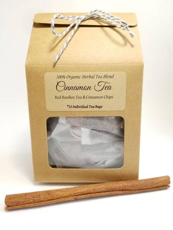 Cinnamon Tea / Tea Bags / Herbal Tea / Organic Tea / Tea / Loose Leaf Tea / Rooibos Tea / Organic Herbal Tea / Caffeine Free Tea / Tea Gift