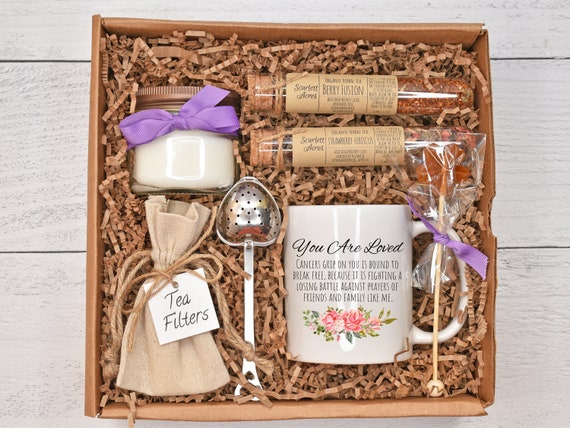 Cancer Gifts For Women, Cancer Care Package, Cancer Gift Box, Chemo Care Package, Healing Tea Gift Set, Breast Cancer Gifts