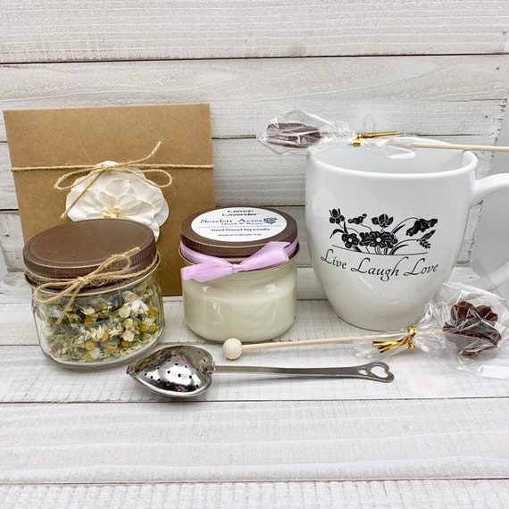 Get Well Soon Gift Box, Cancer Care Package, Chemo Care Package, Stress Relief Gift Box, Organic Tea Gift Set, Gift Baskets For Women