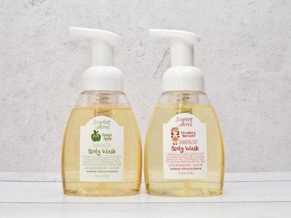 Kids Foaming Body Wash, Childrens Body Wash, Kids Organic Body Wash, Kids Strawberry Body Wash, Green Apple Body Wash, Kids Skin Care
