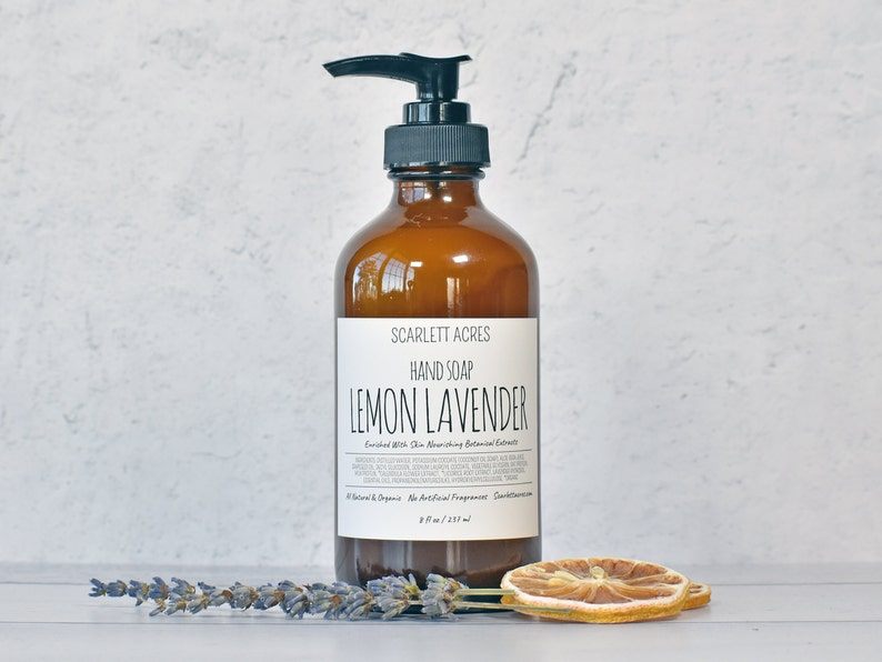 Natural Hand Soap Organic Hand Soap Moisturizing Hand Soap image 0