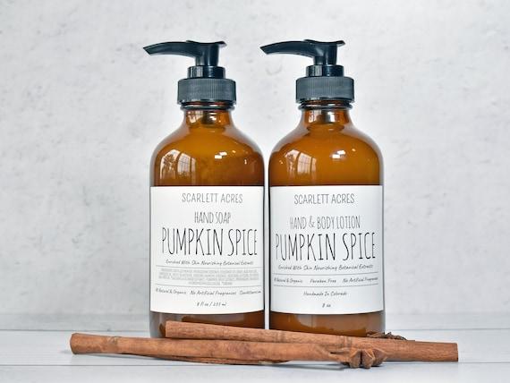 Hand Soap & Lotion Set, Pumpkin Spice Lotion, Holiday Gift Basket, Christmas Gift Set, Organic Lotion, Natural Hand Soap, Holiday Gift Set