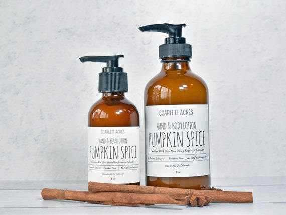 Pumpkin Spice Lotion, Holiday Scented Lotion, Hand & Body Lotion, Organic Lotion, Sensitive Skin Lotion, Natural Lotion, Shea Butter Lotion