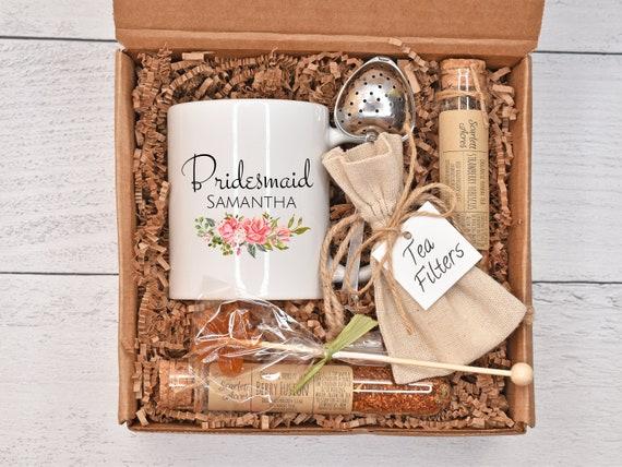 Bridesmaid Tea Gift Set, Bridesmaid Tea Gift Box, Bridesmaid Tea Gift Basket, Bridesmaid Thank You Gift, Bridesmaid Proposal Gift Box