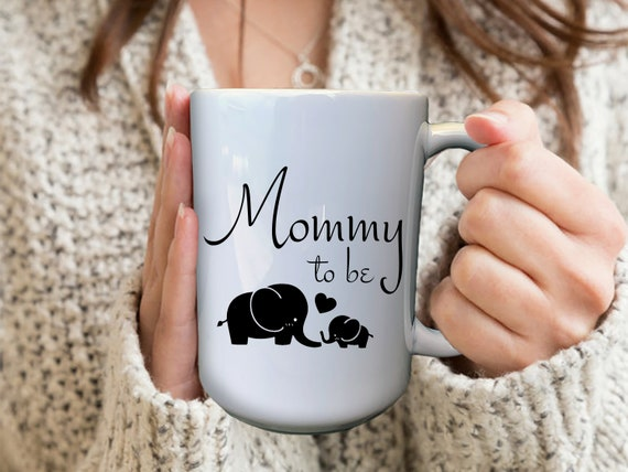 Mommy To Be Mug, Personalized Pregnancy Mugs, Custom Pregnancy Mug, Baby Elephant Mug, Expecting Mom Gift, First Time Mom Gift, Custom Mugs